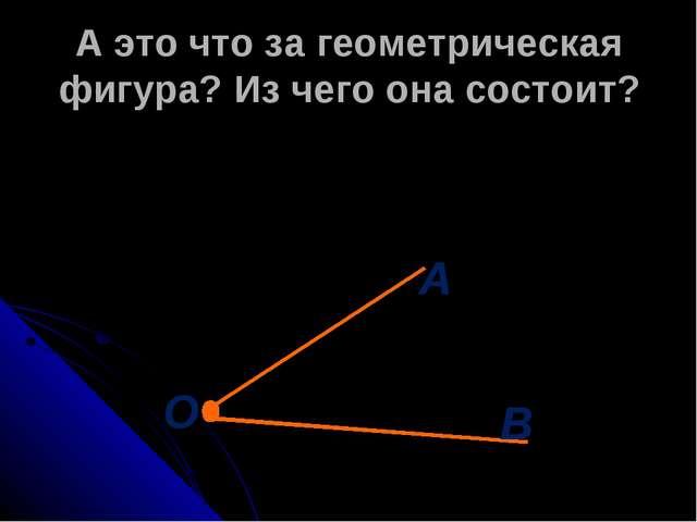А это что за геометрическая фигура? Из чего она состоит?