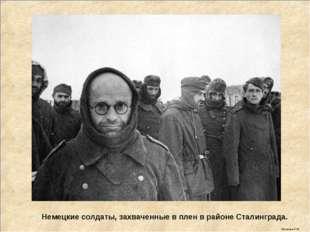 Немецкие солдаты, захваченные в плен в районе Сталинграда. Мусатова О.Ю.