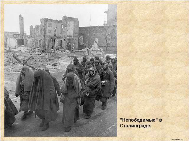 """""""Непобедимые"""" в Сталинграде. Мусатова О.Ю."""