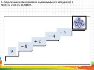 * * 2. Актуализация и фиксирование индивидуального затруднения в пробном учеб