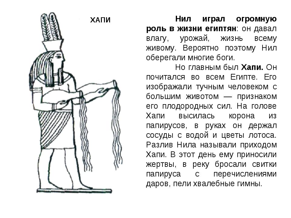 Нил играл огромную роль в жизни египтян: он давал влагу, урожай, жизнь всему...