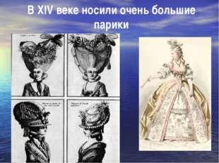 В XIV веке носили очень большие парики