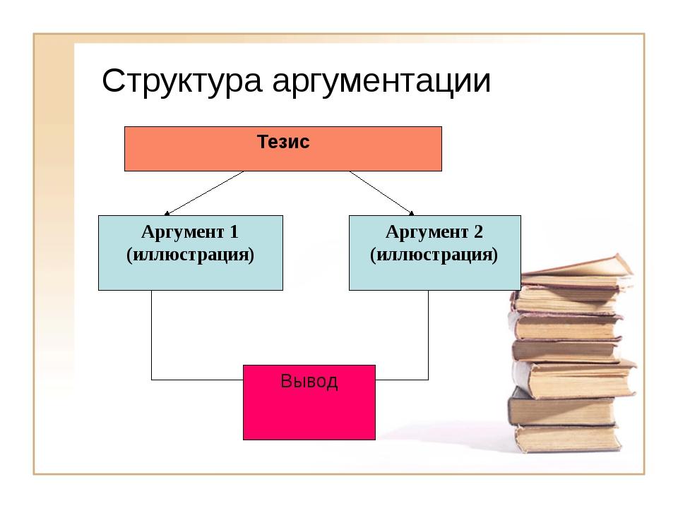 Структура аргументации