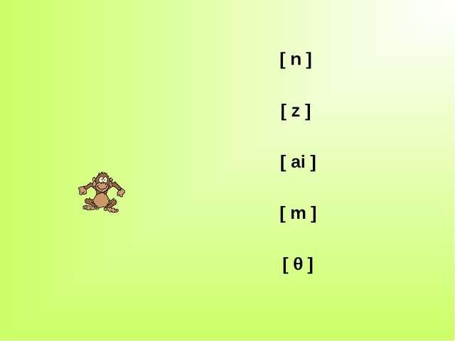 [ n ] [ z ] [ ai ] [ m ] [ θ ]