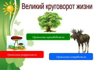 Free Powerpoint Templates Организмы-производители Организмы-потребители Орган