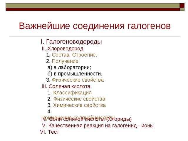 II. Хлороводород 1. Состав. Строение. 2. Получение: а) в лаборатории; б) в пр...