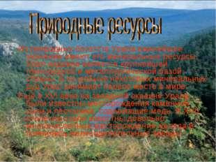 Из природных богатств Урала важнейшее значение имеют его минеральные ресурсы.