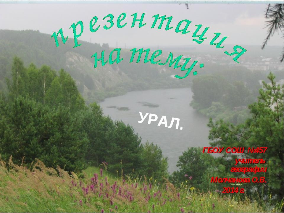ГБОУ СОШ №457 учитель географии Молчанова О.В. 2014 г.