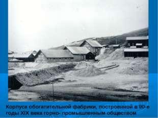 Корпуса обогатительной фабрики, построенной в 90-е годы XIX века горно- промы