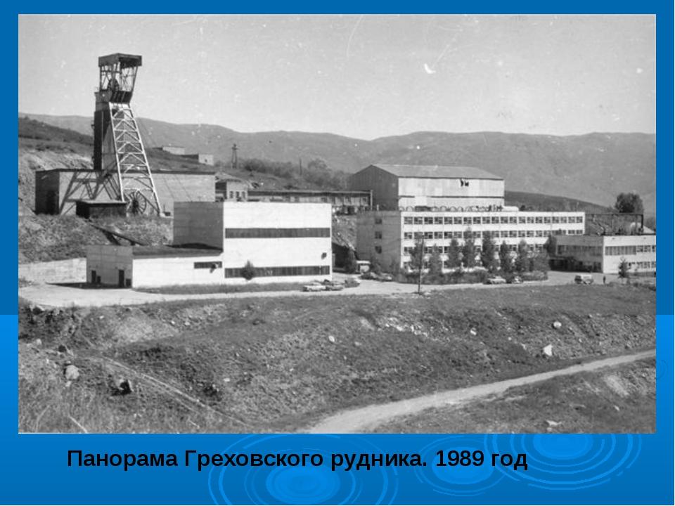 Панорама Греховского рудника. 1989 год