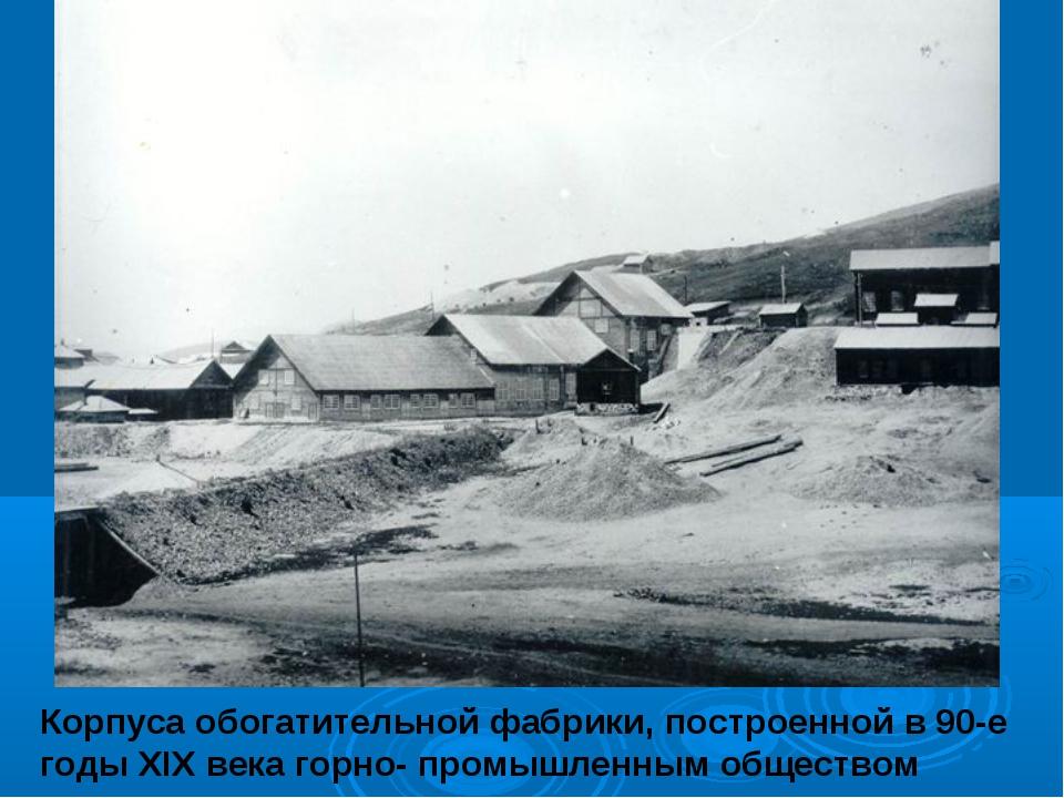 Корпуса обогатительной фабрики, построенной в 90-е годы XIX века горно- промы...