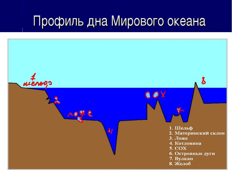 Профиль дна Мирового океана