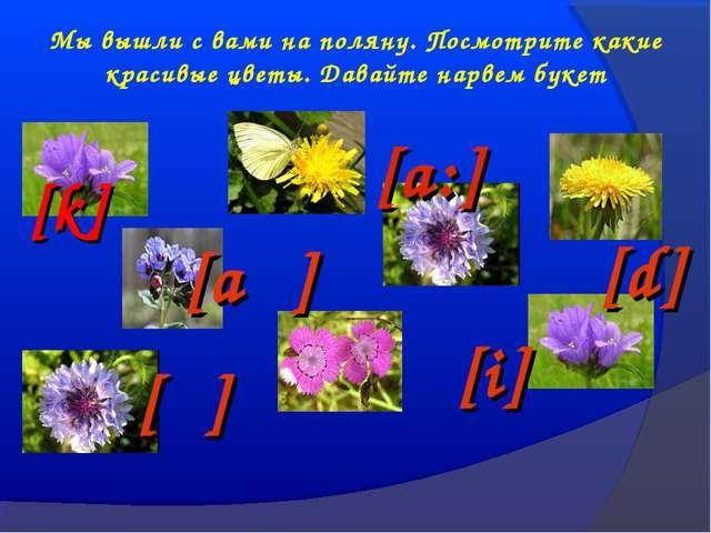 Мы вышли с вами на поляну. Посмотрите какие красивые цветы. Давайте нарвем бу...