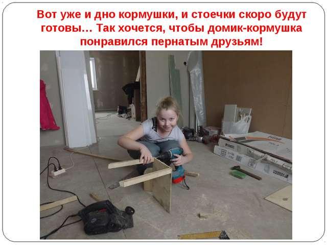 Вот уже и дно кормушки, и стоечки скоро будут готовы… Так хочется, чтобы доми...