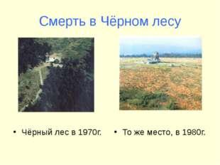 Смерть в Чёрном лесу Чёрный лес в 1970г. То же место, в 1980г.