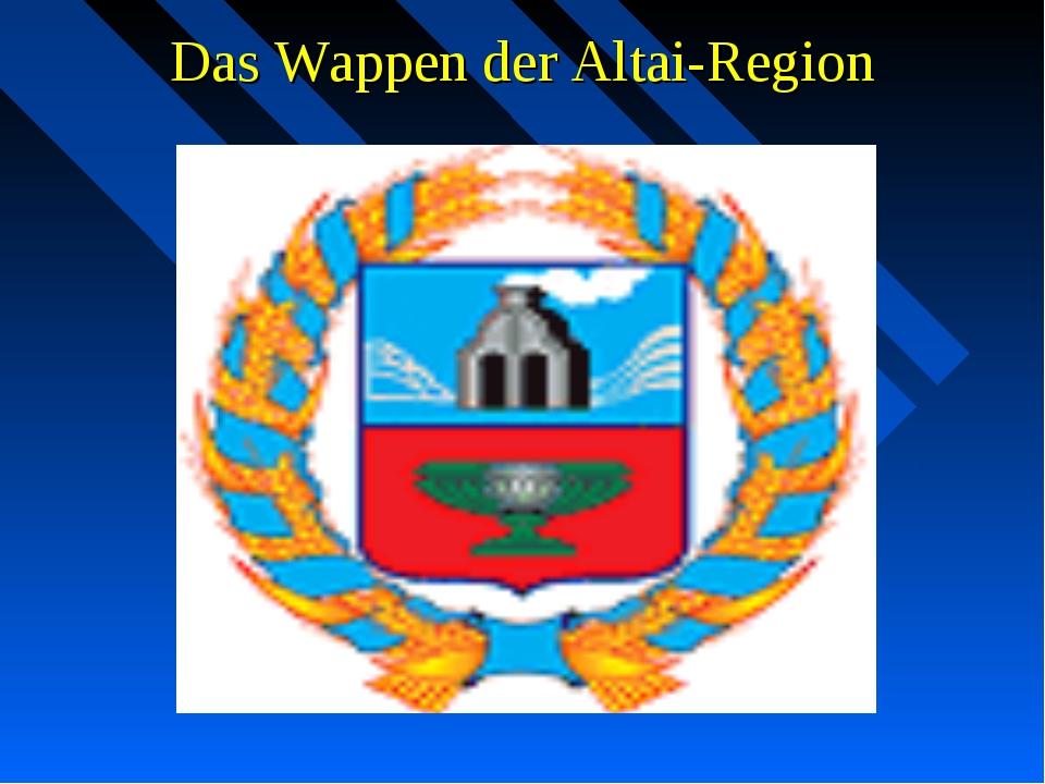 Das Wappen der Altai-Region