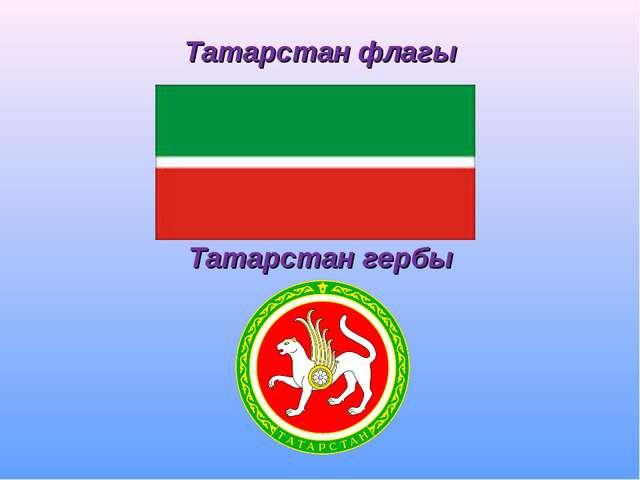 Татарстан флагы Татарстан гербы