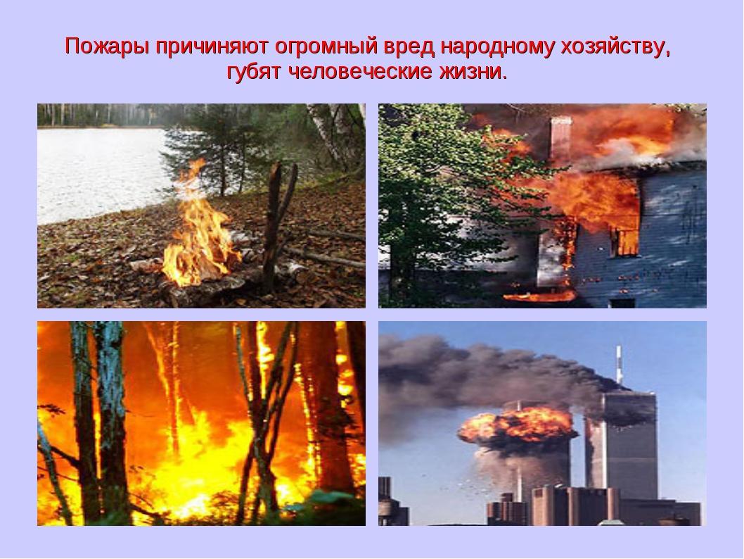 Пожары причиняют огромный вред народному хозяйству, губят человеческие жизни.