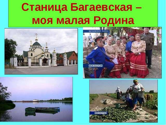 Станица Багаевская – моя малая Родина