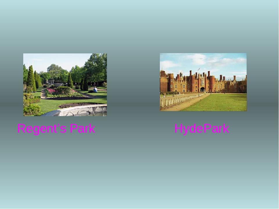 Regent's Park HydePark
