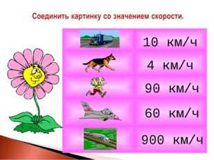 4 км/ч 10 км/ч 900 км/ч 90 км/ч 60 км/ч