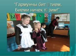 """""""Гармунчы бит әтием, Биеми ничек түзим!""""."""