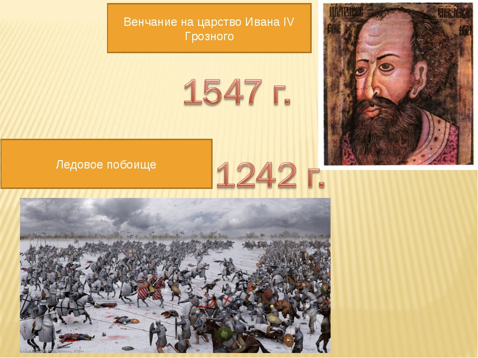 Ледовое побоище Венчание на царство Ивана IV Грозного