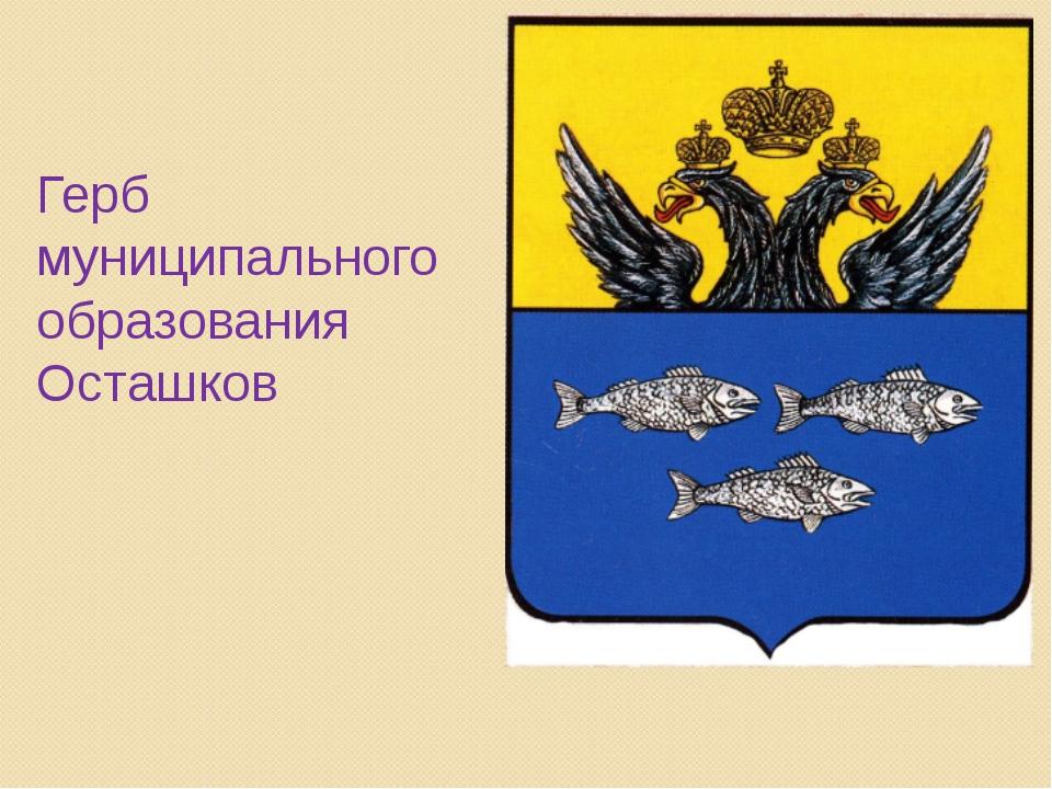 Герб муниципального образования Осташков
