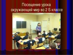 Посещение урока окружающий мир во 2 Б классе