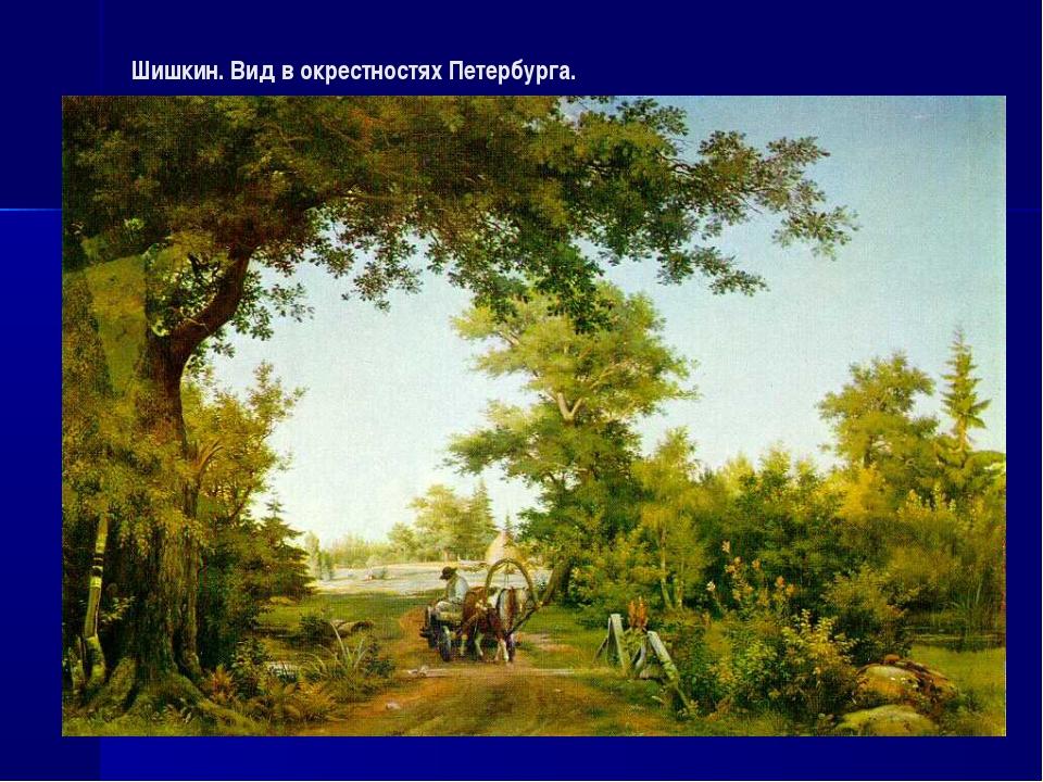 Шишкин. Вид в окрестностях Петербурга.