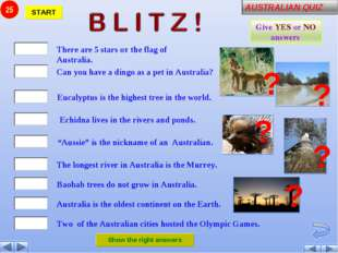 25 There are 5 stars от the flag of Australia. Can you have a dingo as a pet