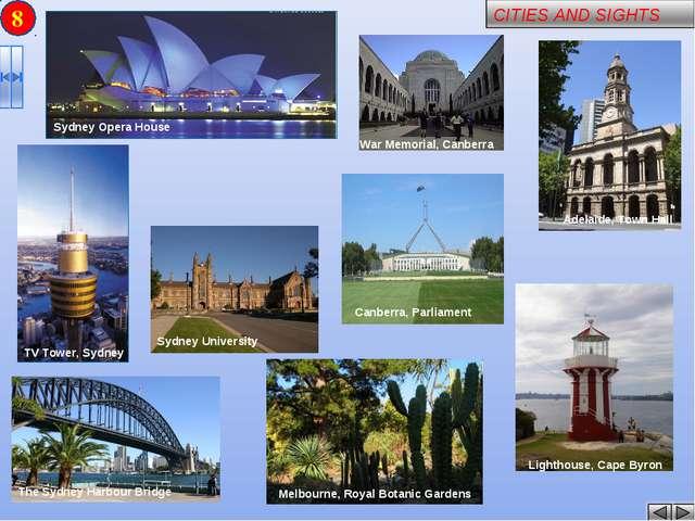 8 Sydney University Melbourne, Royal Botanic Gardens War Memorial, Canberra T...