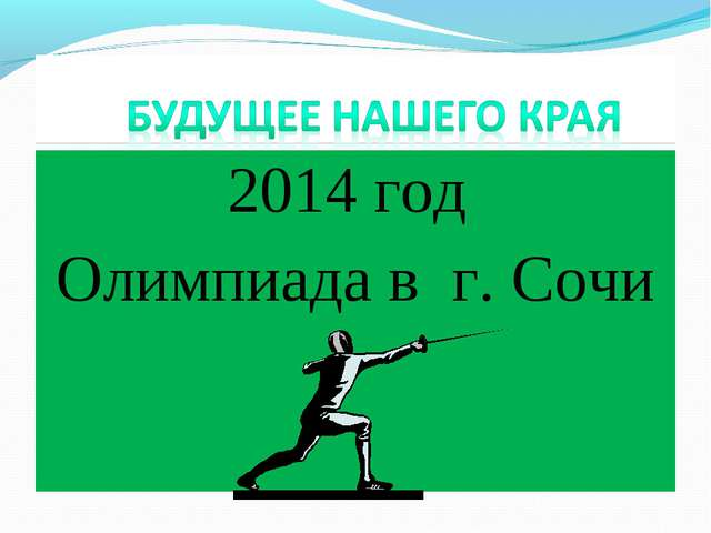 2014 год Олимпиада в г. Сочи