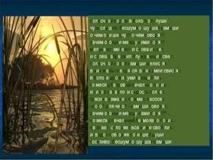 полночной порою в болотной глуши чуть слышно, бесшумно, шуршат камыши. о чем