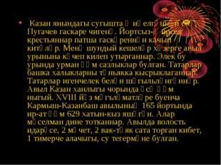Казан янындагы сугышта җиңелгәннән соң, Пугачев гаскаре чигенә. Йортсыз-җирс