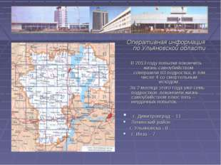Оперативная информация по Ульяновской области В 2013 году попытки покончить