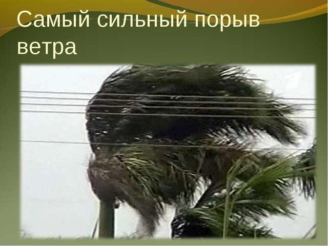 Самый сильный порыв ветра