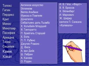 Талокс Гигин Пердикс Крит Минос Минотавр Пасифая Ариадна Тесей Сицилия Камик