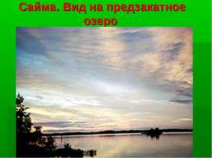 Сайма. Вид на предзакатное озеро