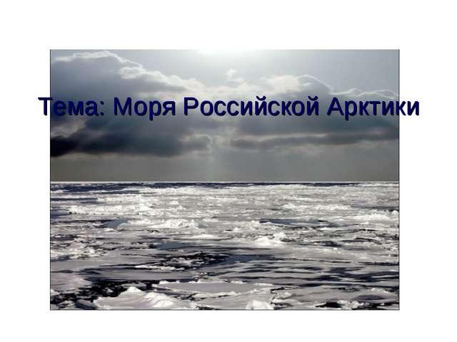 Тема: Моря Российской Арктики