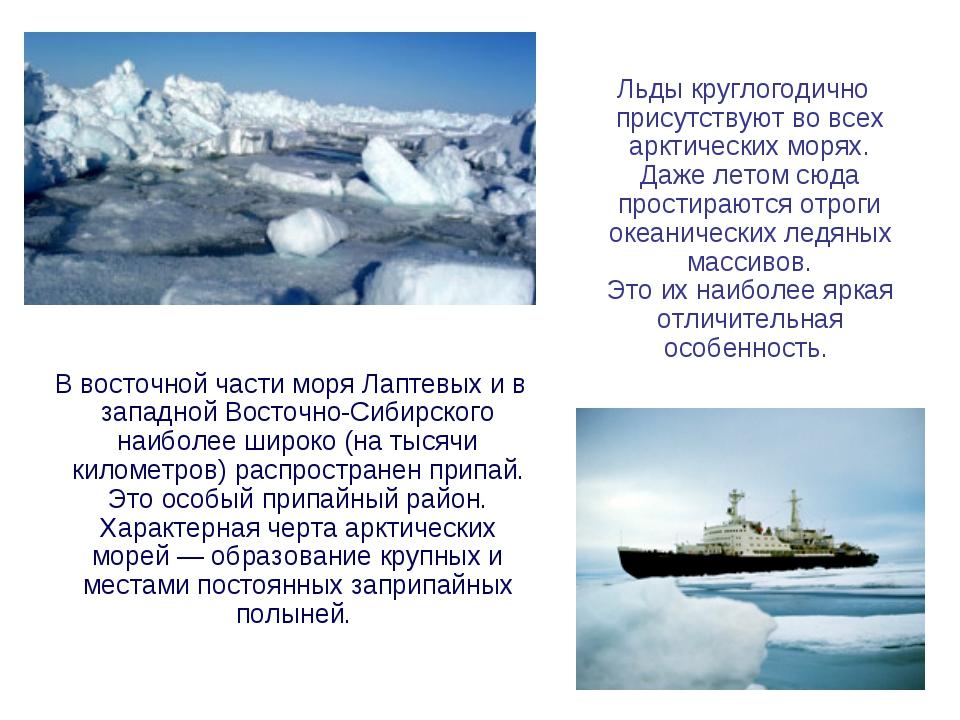 В восточной части моря Лаптевых и в западной Восточно-Сибирского наиболее ши...