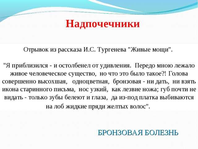 """Отрывок из рассказа И.С. Тургенева """"Живые мощи"""". """"Я приблизился - и остолбене..."""