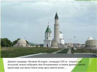 Древнее городище «Великие Булгары», площадью 550 га. открыто для экскурсий, м