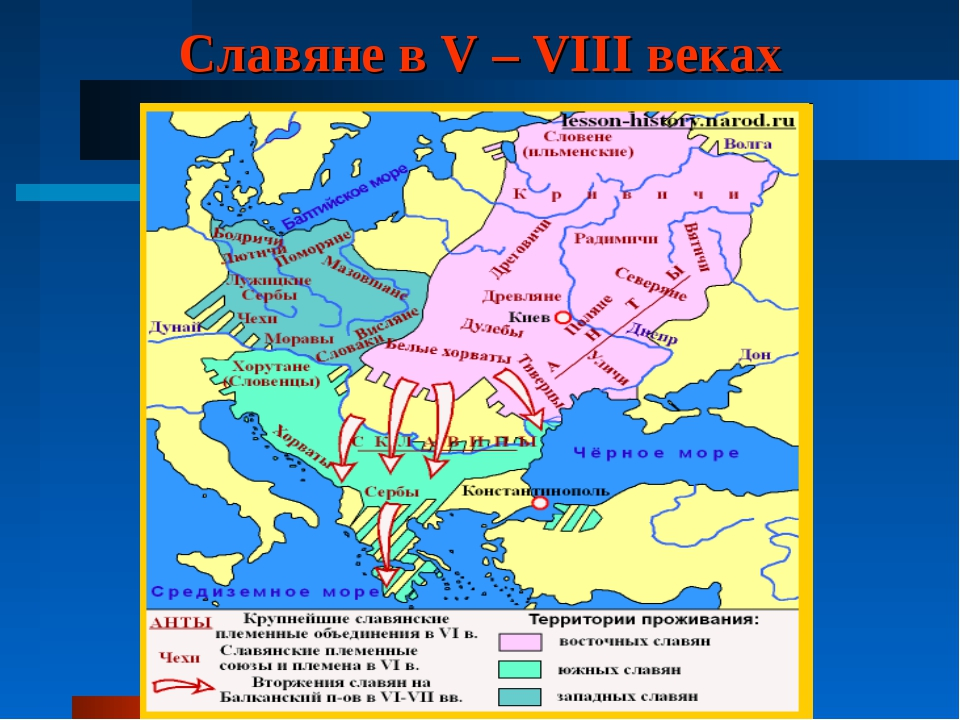 Славяне в V – VIII веках