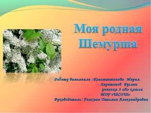 Работу выполнили :Константинова Мария Харитонов Руслан ученики 3 «А» класса М