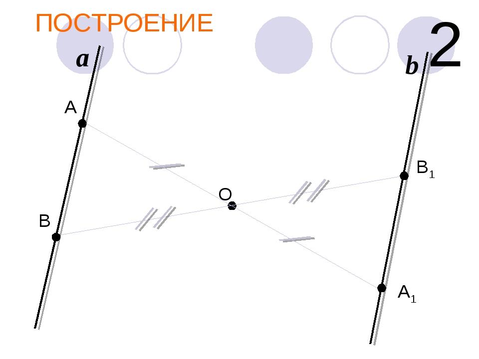 ПОСТРОЕНИЕ О a 2 А А1 В1 b В