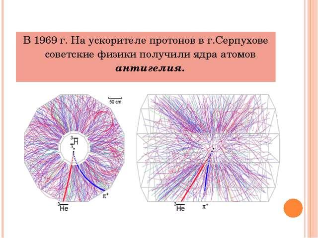 В 1969 г. На ускорителе протонов в г.Серпухове советские физики получили ядра...