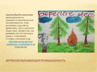 Деревообрабатывающая промышленность занимается производством пиломатериалов,