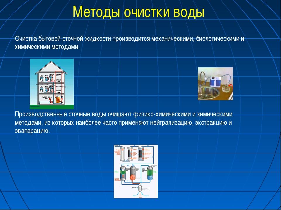Методы очистки воды Очистка бытовой сточной жидкости производится механически...