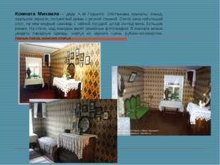 Комната Михаила— дяди А.М.Горького. Обстановка комнаты: комод, овальное зе